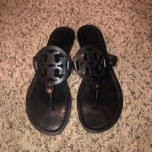Tory Burch Miller sandals matte black
